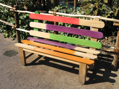 Popsicle Stick Benches