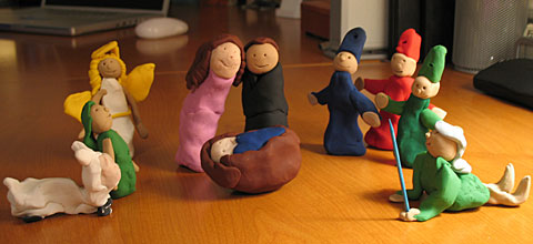 Sculpey Nativity Scene