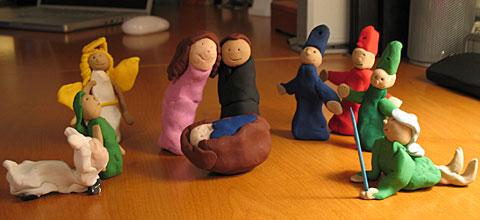 Sculpey Nativity Scene