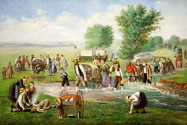 Handcart Pioneers by C.C.A. Christensen