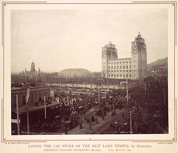 Laying the Capstone of the Salt Lake Temple