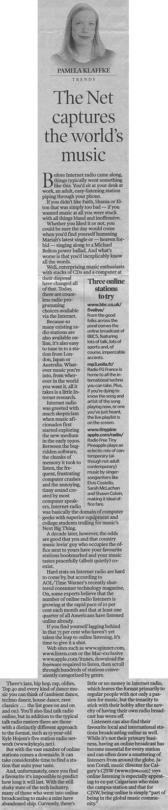 Calgary Herald Article