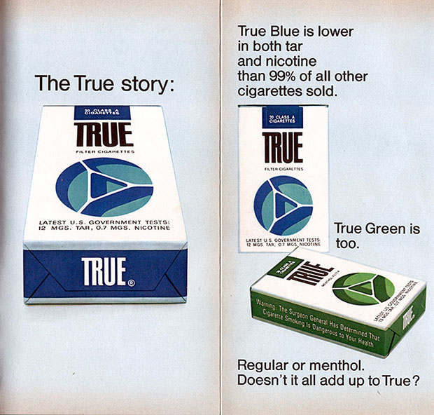 True Cigarette Ad: Doesn't It All Add Up To True?