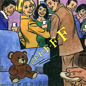 Farting Teddy Bear at a Dinner Party