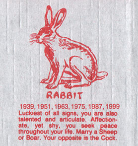 Chinese Zodiac Rabbit Description