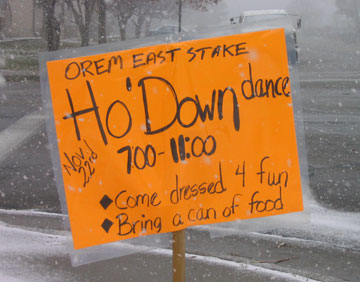 Ho' Down Sign