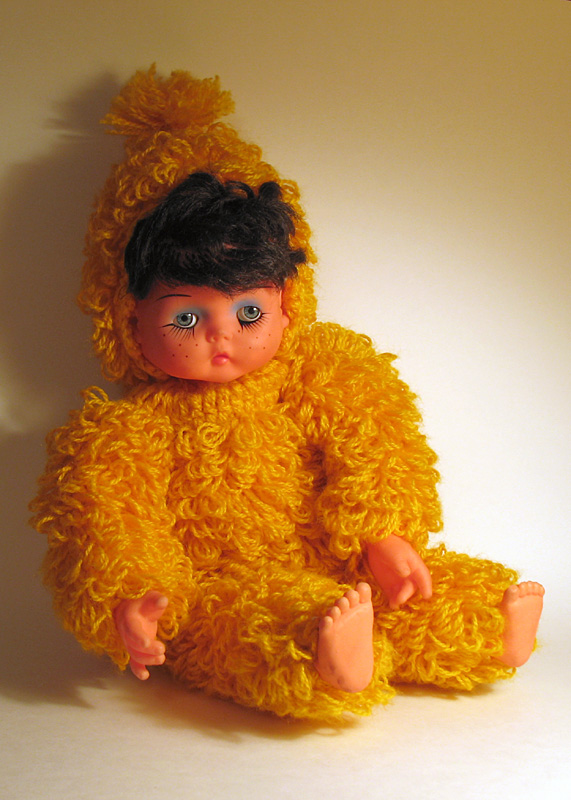 Zippy the Pinhead Yellow Yarn Gorilla Baby
